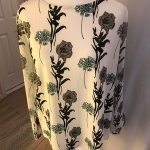 NWT Ann Taylor Factory Blouse w/Sheer Sleeves